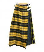 O'NEIL OF DUBLIN(オニールオブダブリン)の古着「ラップスカート」|イエロー