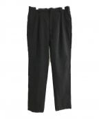 H BEAUTY&YOUTH(エイチ ビューティアンドユース)の古着「WOOL MOHAIR PANTS」|ブラック