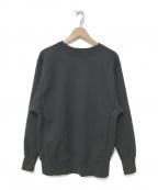 CIOTA(シオタ)の古着「スビンコットン吊裏毛 クルーネック スウェットシャツ」|ブラック