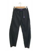 ()の古着「STRETCH TWILL WIDE PANTS」|ブラック