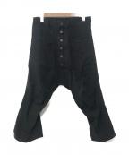 NEMETH(ネメス)の古着「デニムサルエルパンツ」|ブラック