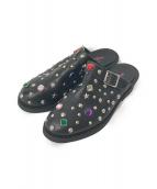 JUNYA WATANABE MAN PINK(ジュンヤワタナベマン ピンク)の古着「Studs Leather Sandals」|ブラック