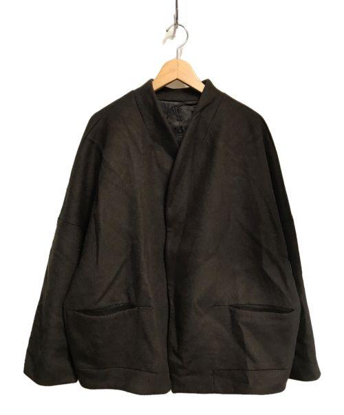 Lui's(ルイス)Lui's (ルイス) 20A/W ハイクオリティーオーバーブルゾン ブラウン サイズ:Mの古着・服飾アイテム
