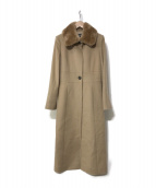 FOXEY BOUTIQUE(フォクシー ブティック)の古着「ヌートリアファーカシミヤ コート」|ベージュ