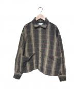 SHAREEF(シャリーフ)の古着「チェックシャツ」 ベージュ
