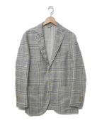 L.B.M.1911(ルビアム1911)の古着「チェックテーラードジャケット」|グレー
