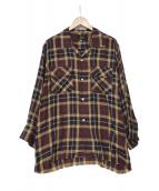 Needles(ニードルス)の古着「Cut-Off Bottom Classic Shirt-T」|ブラウン