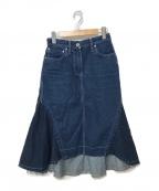 sacai()の古着「16A/W バックフレアデニムスカート」|インディゴ