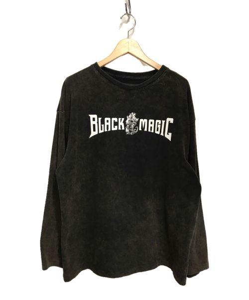 Liberal youth ministry(リベラルユースミニストリー)Liberal youth ministry (リベラルユースミニストリー) LONGSLEEVE BLACK MAGIC T-SHIRT ブラック サイズ:Mの古着・服飾アイテム