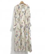 ROSSO(ロッソ)の古着「ドレス カラーフラワープリントワンピース」 ホワイト