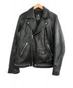 LOVELESS(ラブレス)の古着「ダブルライダースジャケット」|ブラック