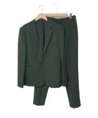 LAD MUSICIAN(ラッドミュージシャン)の古着「ネクタイつきセットアップスーツ」 グリーン