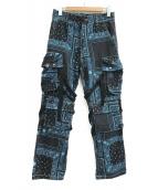 ROGIC(ロジック)の古着「PAISLY BONTAGE PANTS」|ブルー