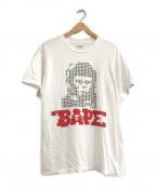 BAPE BY A BATHING APE(ベイプバイアベイシングエイプ)の古着「プリントTシャツ」|ホワイト