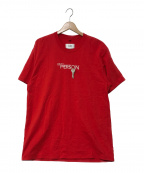doublet(ダブレット)の古着「KEY PERSON EMBROIDERY T-SHIRT」 レッド