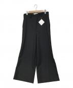 ETHOSENS(エトセンス)の古着「薄地メルトンバギーパンツ」|ブラック