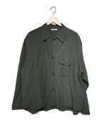 CLANE HOMME(クラネ オム)の古着「リネンシャツ」|カーキ