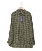 KAPTAIN SUNSHINE(キャプテンサンシャイン)の古着「チェックシャツ」|KHAKI PLAID