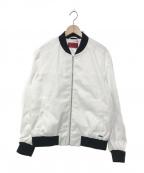 HUGO BOSS(ヒューゴ ボス)の古着「20A/W スリムフィットボンバージャケット」|ホワイト