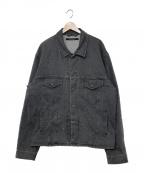 DRESSEDUNDRESSED(ドレスドアンドレスド)の古着「Oversized Washed Denim Jacket」 ブラック