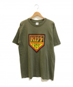 バンドTシャツ(バンドTシャツ)の古着「[古着]90's Kiss バンドTシャツ」 カーキ
