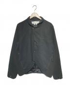 GANRYU(ガンリュウ)の古着「ウールフラノ×エステルフリースジャケット」 ブラック