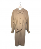 ETHOSENS(エトセンス)の古着「18S/S トロピカルウールロングコート」|ベージュ