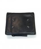 Martin Margiela11(マルタンマルジェラ11)の古着「レザー 二つ折り財布」|ブラック
