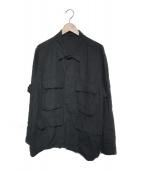 COMOLI(コモリ)の古着「21S/S リネン B.D.Uジャケット」 ブラック
