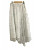 ()の古着「シフォンドットスカート」 ホワイト