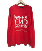 UNDERCOVER()の古着「WEEKEND MONDAYSカットソー」|レッド