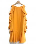 ADEAM(アディアム)の古着「フリルワンピース」|オレンジ