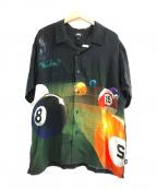 stussy()の古着「Pool Hall Shirt」|ブラック