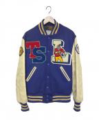 skookum(スクーカム)の古着「スタジャン」 ブルー