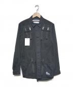WHITE MOUNTAINEERING(ホワイトマウンテ二アニング)の古着「19S/S ベストドッキングシャツ」|ブラック