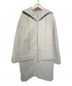 RICK OWENS(リックオウエンス)の古着「フーデッドコート」|ベージュ