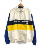 POLO SPORT(ポロスポーツ)の古着「フロントロゴジップジャケット」 ホワイト