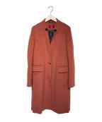 HUGO BOSS(ヒューゴ ボス)の古着「チェスターロングコート」|レッド