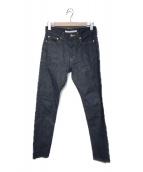 ()の古着「RIGID DENIM TAPERED PANTS」|インディゴ