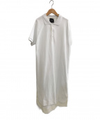 ATON(エイトン)の古着「SUVIN KANOKO ポロドレス」 ホワイト