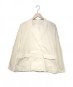 CASEY CASEY(ケーシーケーシー)の古着「ダブルジャケット」 ホワイト