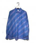 Name.(ネーム)の古着「19A/W スプレーペイントシャツ」 ブルー
