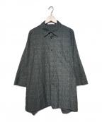 ETHOSENS(エトセンス)の古着「柄シャツ」|ブラック
