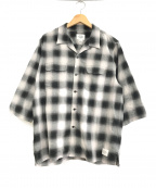 THE CRIMIE(ザ クライミー)の古着「21SS OMBRE CHECK 7TH SLEEVE SH」|ブラック