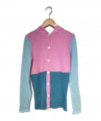 lucien pellat-finet(ルシアン・ペラフィネ)の古着「ピュアカシミヤフードカーディガン」|ピンク
