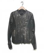 DIESEL Black Gold(ディーゼル ブラック ゴールド)の古着「シングルライダースジャケット」|ブラック