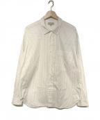 MARGARET HOWELL(マーガレットハウエル)の古着「PINSTRIPE FINE COTTON POPLIN」 ホワイト