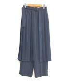 Lois CRAYON(ロイスクレヨン)の古着「18S/S プリーツベルトパンツ」|ネイビー