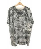 ()の古着「騙し絵デザインTシャツ」|ホワイト