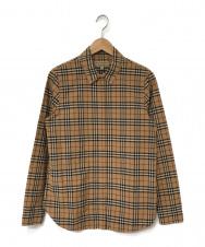 BURBERRY (バーバリー) チェックシャツ ブラウン サイズ:S